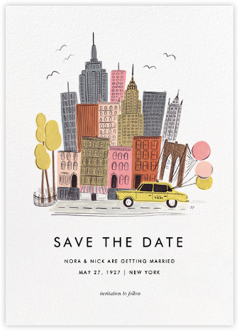 Destination: New York - Rifle Paper Co. - Save the dates