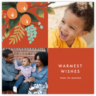 Orange Cluster (Multi-Photo) - Rifle Paper Co. - Christmas Cards