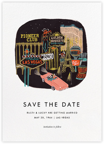 Destination: Vegas - Rifle Paper Co. - Save the dates