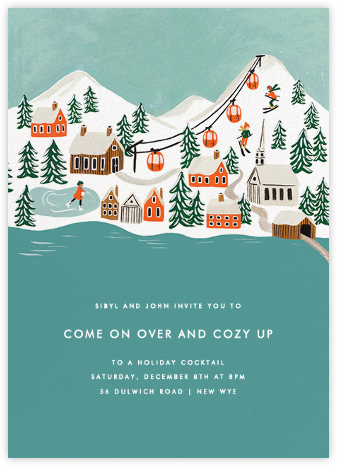 Ski Village - Rifle Paper Co. - Winter Party Invitations