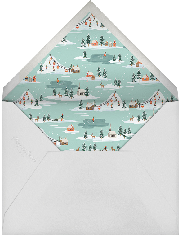 Ski Village - Rifle Paper Co. - Winter entertaining - envelope back