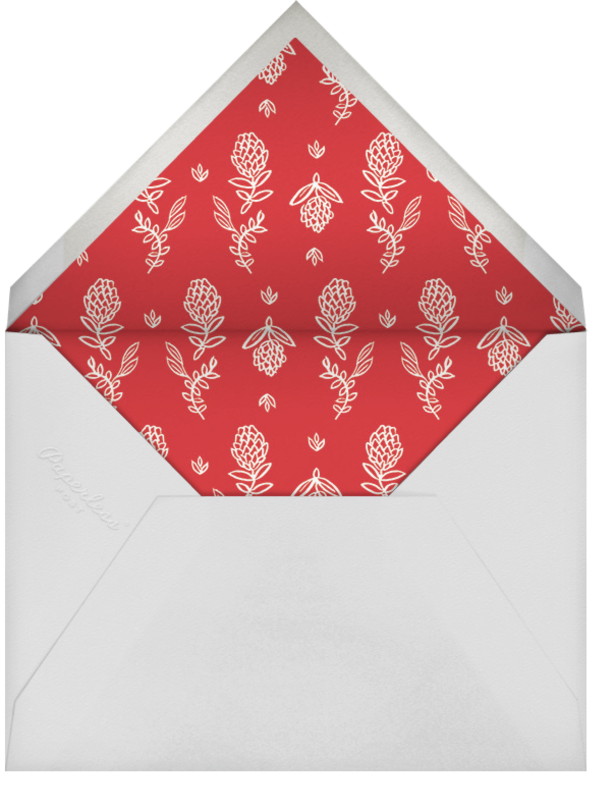 Botanical Lace (Photo) - Gold - Rifle Paper Co. - Christmas - envelope back