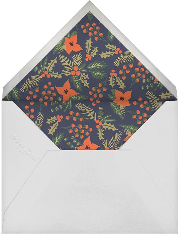 Holiday Potpourri (Frame) - Navy - Rifle Paper Co. - Christmas - envelope back