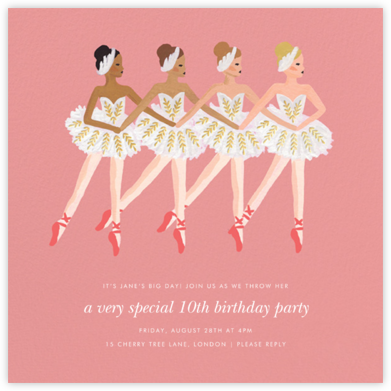 Ballet Day - Rifle Paper Co. - Online Kids' Birthday Invitations