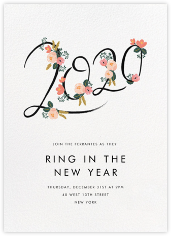 Botanic Year (Tall) - White - Rifle Paper Co. - New Year's Eve Invitations