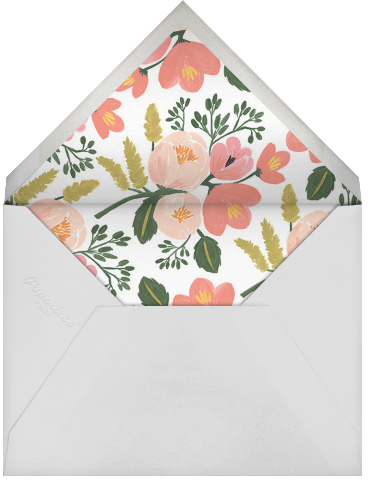 Botanic Year (Horizontal) - Black - Rifle Paper Co. - New Year - envelope back
