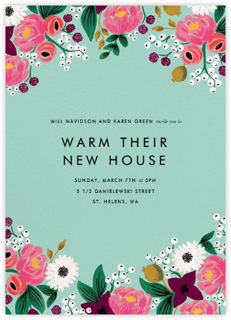 Vintage Blossom (Tall) - Rifle Paper Co. - Housewarming party invitations