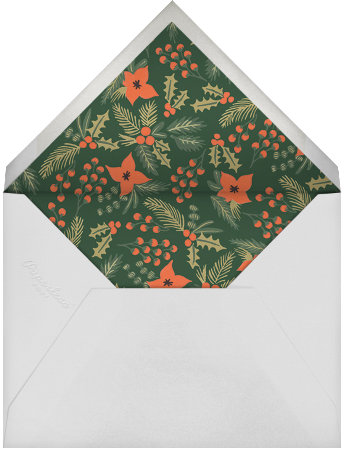 Holiday Potpourri (Inset) - Rifle Paper Co. - Holiday cards - envelope back