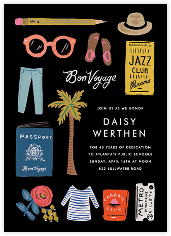 Travel Essentials - Rifle Paper Co. - Summer Party Invitations