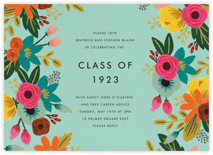 Floral Tropics - Celadon - Rifle Paper Co. - Celebration invitations