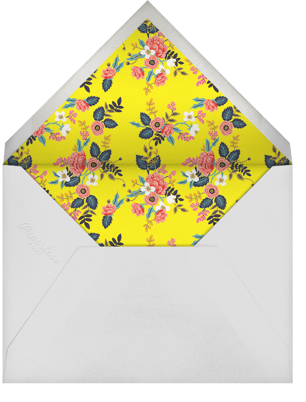 Birch Monarch - Yellow - Rifle Paper Co. - Engagement party - envelope back