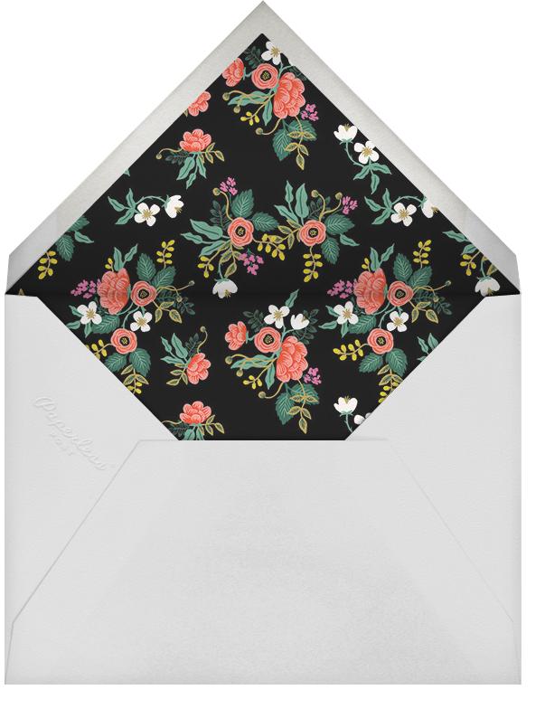 Birch Monarch - Black - Rifle Paper Co. - Engagement party - envelope back
