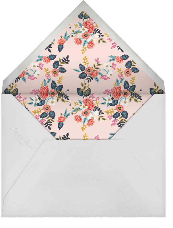 Birch Monarch - Pink - Rifle Paper Co. - Anniversary party - envelope back