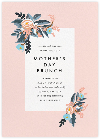 Pinks and Blues - Rifle Paper Co. - Online Mother's Day invitations
