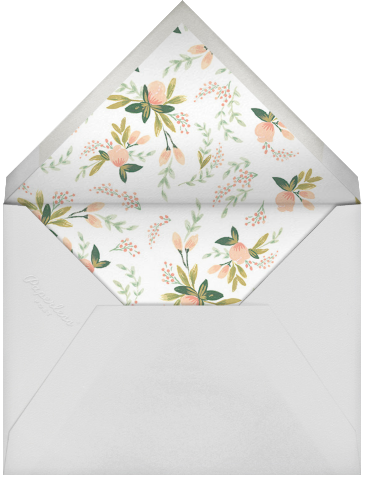 Peach Posies - Rifle Paper Co. - Spring Favorites - envelope back