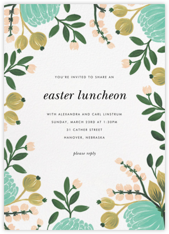 Blue Blooms - Rifle Paper Co. - Easter Invitations