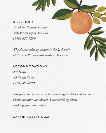 Citrus Orchard Suite (Invitation) - White - Rifle Paper Co. - All - insert front