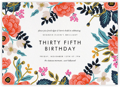 Birch Monarch (Frame) - White - Rifle Paper Co. - Adult birthday invitations