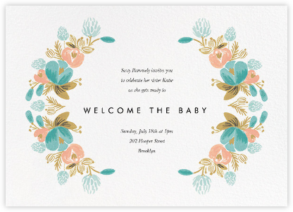 Classic Garland - Rifle Paper Co. - Baby shower invitations