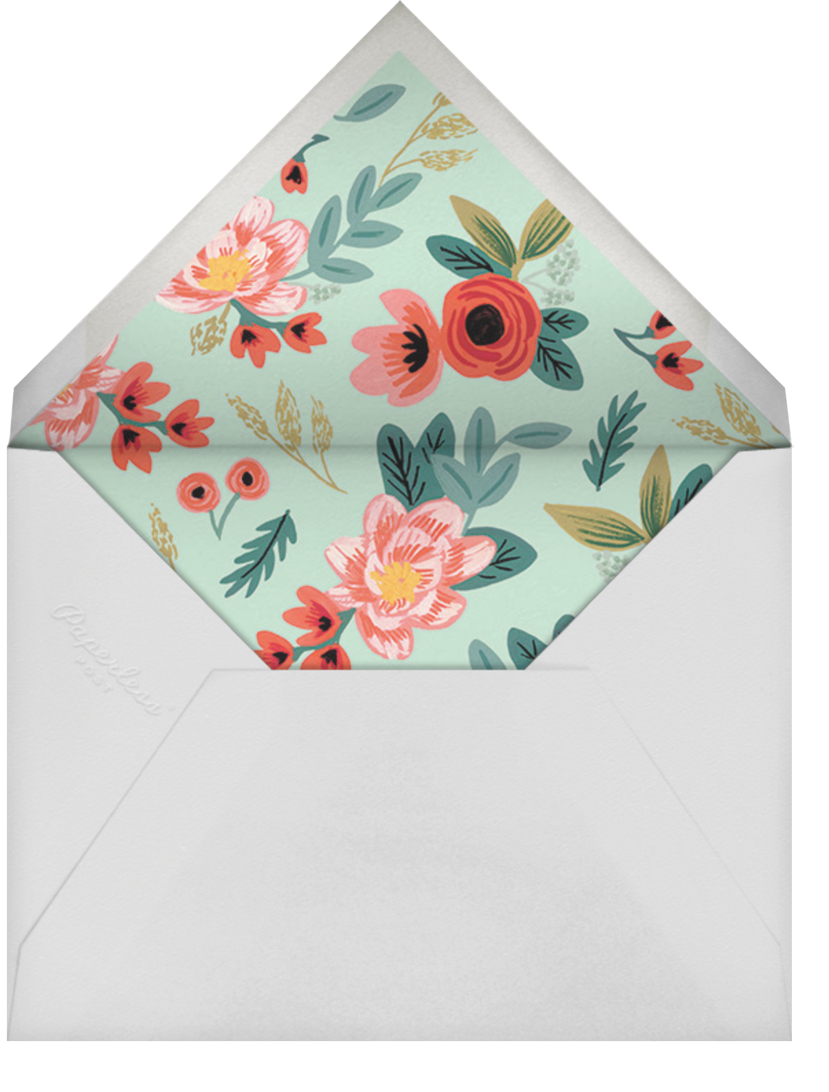 Woven Wildflowers - White - Rifle Paper Co. - Cocktail party - envelope back