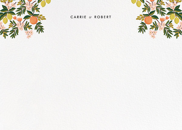 Citrus Orchard Suite (Stationery) - White - Rifle Paper Co. - Rifle Paper Co. Wedding