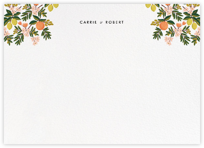 Citrus Orchard Suite (Stationery) - White - Rifle Paper Co. - Personalized stationery