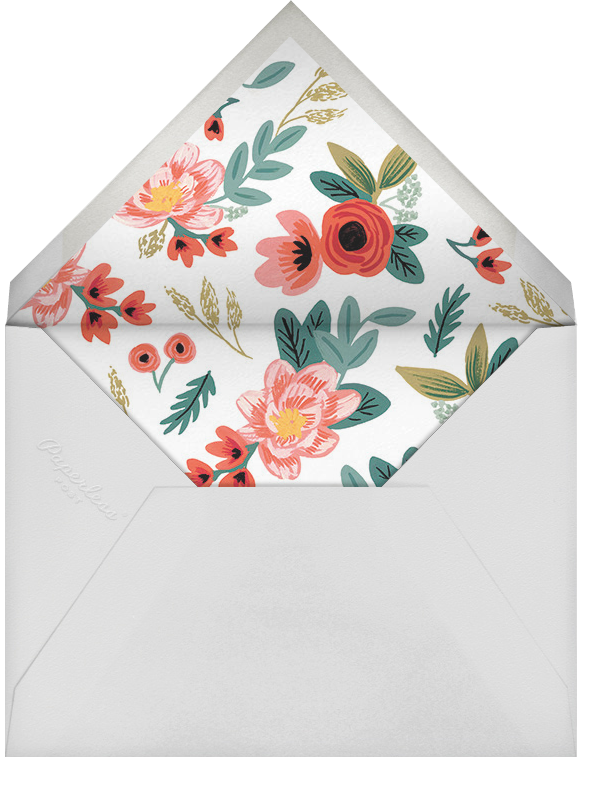 Woven Wildflowers - Green - Rifle Paper Co. - Surprise party - envelope back