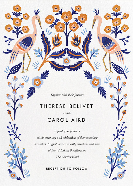 Heron Heralds (Invitation) - Rifle Paper Co. - Rifle Paper Co. Wedding
