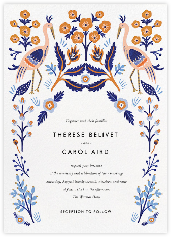Heron Heralds (Invitation) - Rifle Paper Co. - Indian Wedding Cards