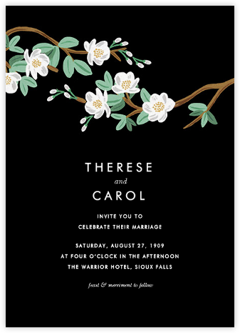 Tea Tree (Invitation) - Black - Rifle Paper Co. - Rifle Paper Co. Wedding