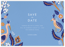 Heron Heralds (Save the Date) - Blue