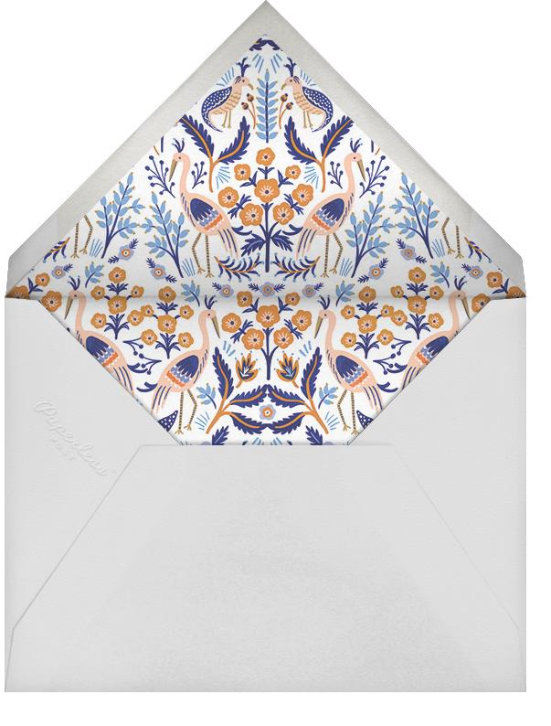 Heron Heralds (Save the Date) - Blue - Rifle Paper Co. - Destination - envelope back