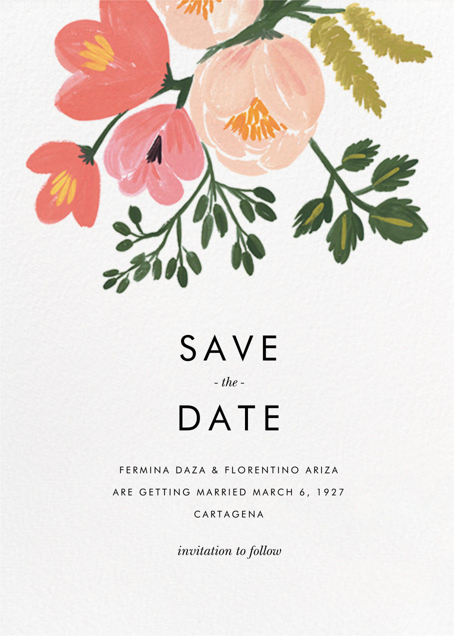 Pastel Petals (Save the Date) - Rifle Paper Co. - Rifle Paper Co. Wedding