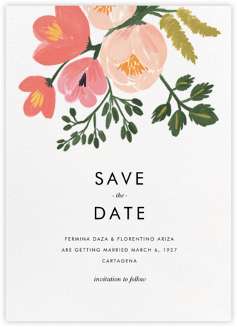 Pastel Petals (Save the Date) - Rifle Paper Co. - Before the invitation cards