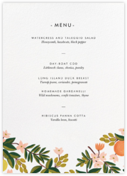 Citrus Orchard Suite (Menu) - White
