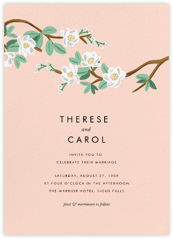 Tea Tree (Invitation) - Peach - Rifle Paper Co. - Wedding Invitations