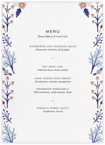 Heron Heralds (Menu) - Rifle Paper Co. - Wedding menus and programs - available in paper