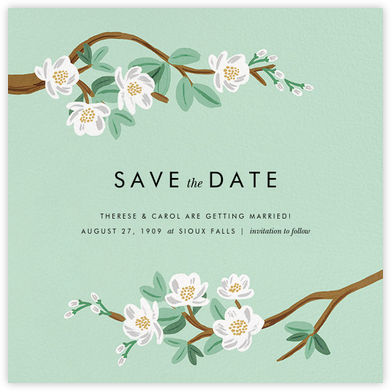 Tea Tree (Save the Date) - Mint - Rifle Paper Co. - Rifle Paper Co. Wedding