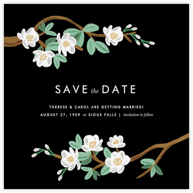 Tea Tree (Save the Date) - Black  - Rifle Paper Co. - Rifle Paper Co. Wedding