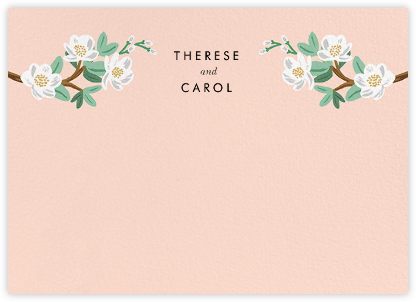 Tea Tree (Stationery) - Peach | horizontal