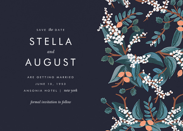 Mandarin Grove (Save the Date)  - Rifle Paper Co. - Rifle Paper Co. Wedding