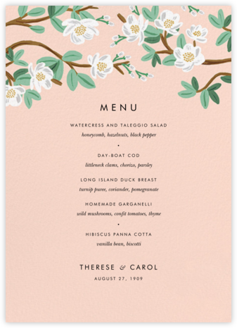 Tea Tree (Menu) - Peach - Rifle Paper Co. - Rifle Paper Co. Wedding