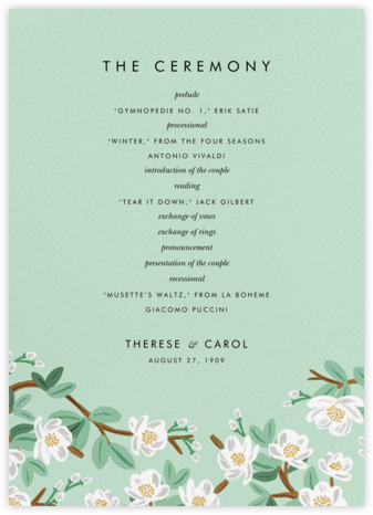 Tea Tree (Program) - Mint - Rifle Paper Co. -