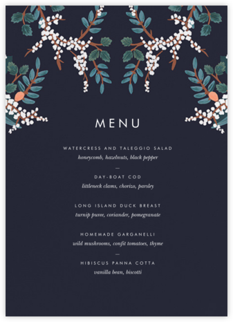Mandarin Grove (Menu) - Rifle Paper Co. - Rifle Paper Co. Wedding
