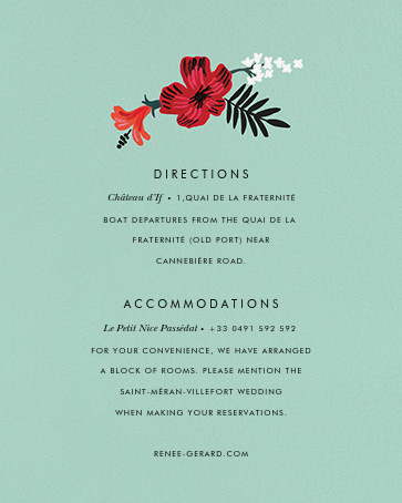 Kona Floral (Invitation) - Celadon - Rifle Paper Co. - All - insert front