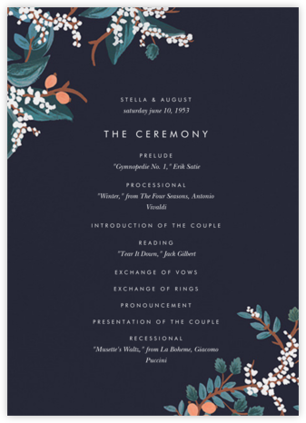 Mandarin Grove (Program) - Rifle Paper Co. - Wedding menus and programs - available in paper