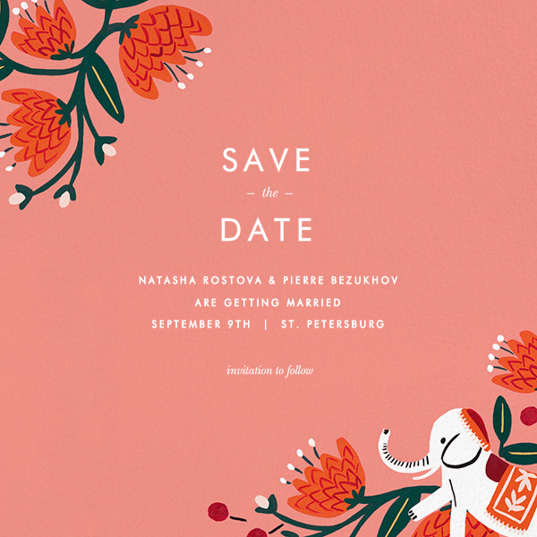 Royal Elephant (Save the Date) - Rifle Paper Co. - Rifle Paper Co. Wedding