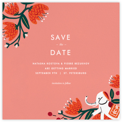 Royal Elephant (Save the Date) - Rifle Paper Co. -