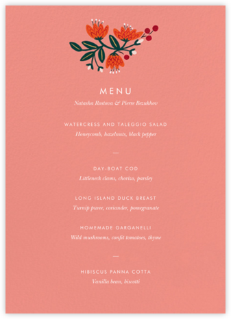 Royal Elephant (Menu) - Rifle Paper Co. - Rifle Paper Co. Wedding