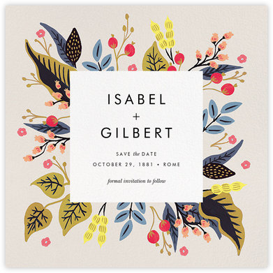 Egret Garden (Save the Date) - Rifle Paper Co. - Rifle Paper Co. Wedding